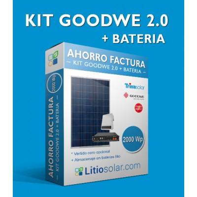 KIT GOODWE 2.0 + BATERIA_2400Wh/día