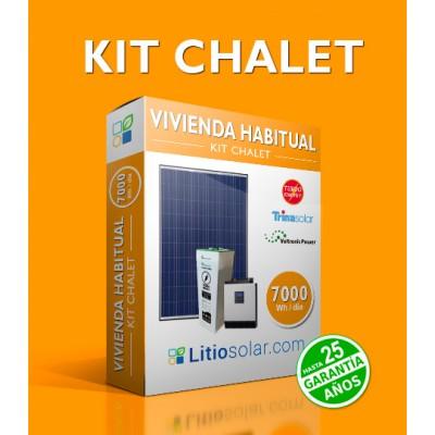 Kit CHALET - 7000Wh/día