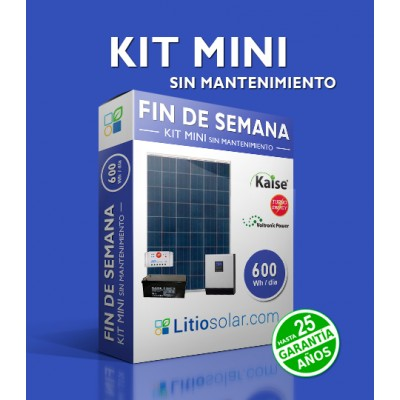 Kit MINI - 600Wh/día (sin mantenimiento)