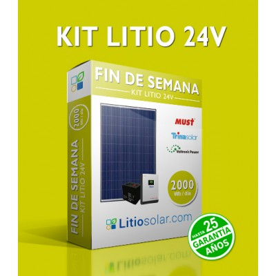Kit LITIO 24V - 2000Wh/día
