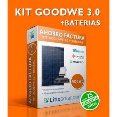 KIT GOODWE 3.0 + BATERIAS_5000Wh/día