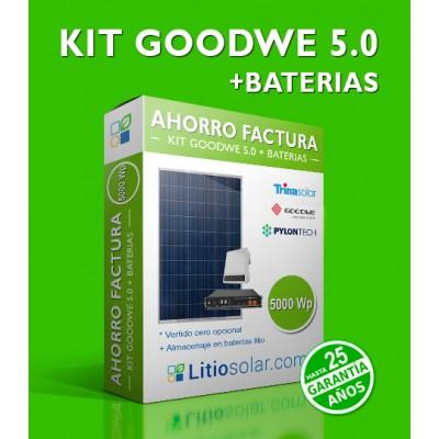 KIT  GOODWE 5.0 + BATERIAS_7500Wh/día
