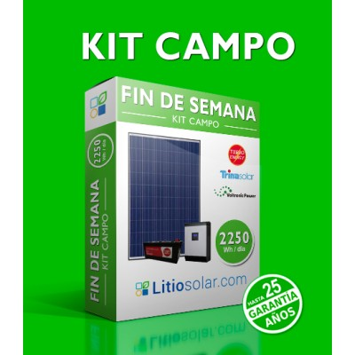 Kit CAMPO - 2250Wh/día