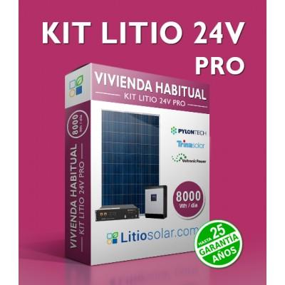 Kit LITIO 24V PRO - 7400Wh/día