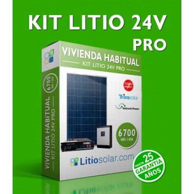 Kit LITIO 24V PRO 6700Wh/día