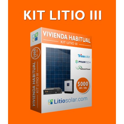 Kit LITIO III - 5000Wh/día