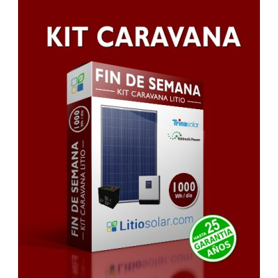 Kit CARAVANA_LITIO - 1000Wh/día