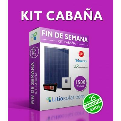 Kit CABAÑA - 1500Wh/día