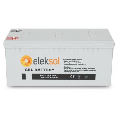Batería Monobloque GEL ELEKSOL 12V 250Ah C100