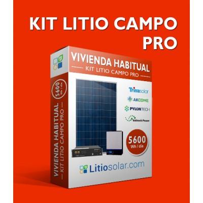 Kit LITIO CAMPO PRO 24V - 5600Wh/día