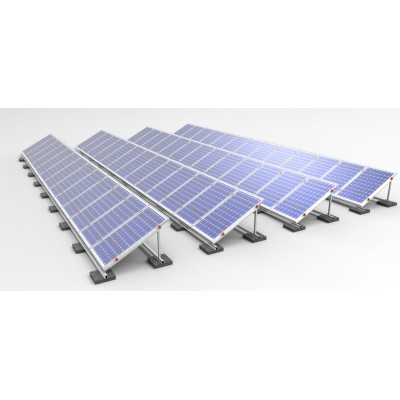Estructura de aluminio INCLINADA  (1xPanel) - Paneles de 144 cel.
