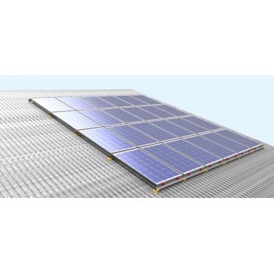 Estructura de aluminio COPLANAR  (1xPanel) - Paneles De 144 Cel.