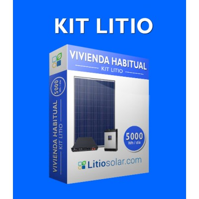 Kit LITIO - 5000Wh/día
