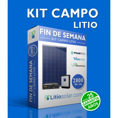 Kit LITIO CAMPO 24V - 2800Wh/día
