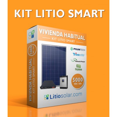 Kit LITIO SMART - 5000Wh/día