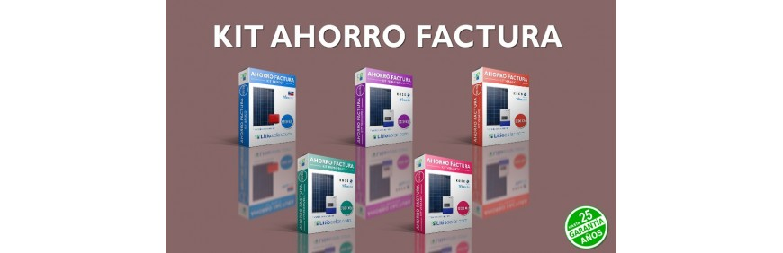 Kit solar ahorro factura